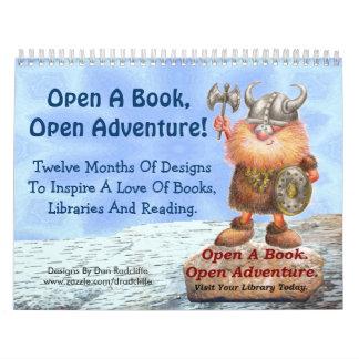 ¡Abra un libro, aventura abierta! Calendario