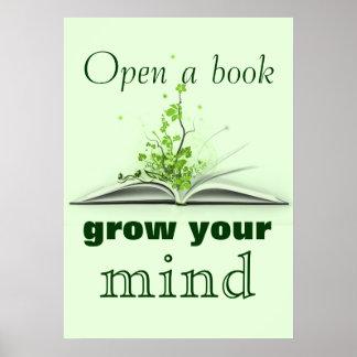 Abra un poster del libro póster