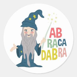 Abracadabra Classic Round Sticker
