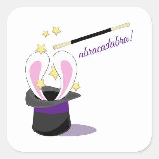 Abracadabra Hat Square Sticker