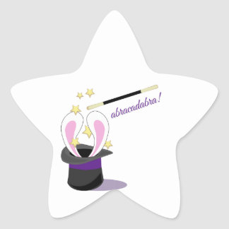 Abracadabra Hat Star Stickers