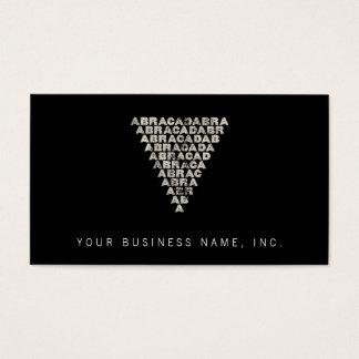 Abracadabra [light inverted pyramid] business card
