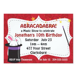 Abracadabra Magic Show 5x7 Paper Invitation Card