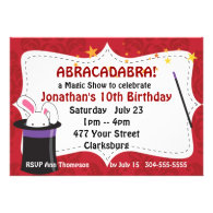 Abracadabra Magic Show Custom Invites