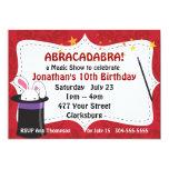 Abracadabra Magic Show Custom Invites