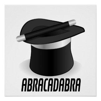 Abracadabra Magic Top Hat Poster