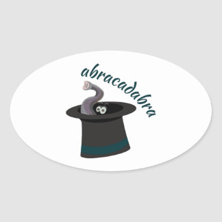 Abracadabra Oval Sticker
