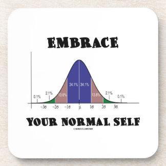 Abrace a su uno mismo normal (el humor de la curva posavaso