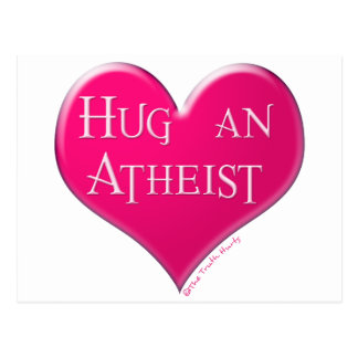 Abrace a un ateo tarjetas postales