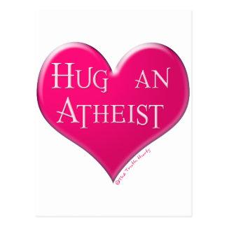 Abrace a un ateo postal