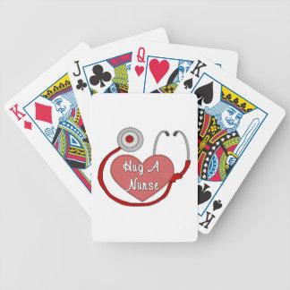 Abrace a una enfermera baraja de cartas