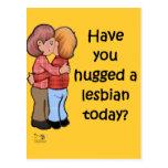 Abrace a una lesbiana postal