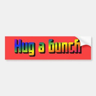 Abrace a una pegatina para el parachoques del mano pegatina para auto