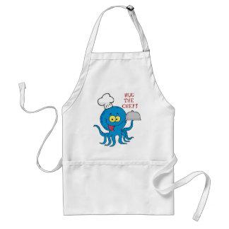 abrace el delantal del cocinero