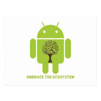 Abrace el ecosistema (el árbol de Droid Brown del  Postales