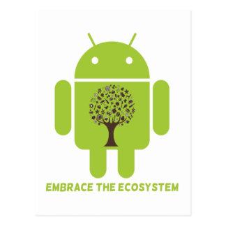 Abrace el ecosistema (el árbol de Droid Brown del  Tarjeta Postal
