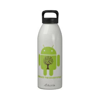 Abrace el ecosistema (el roble androide de Droid d Botella De Agua