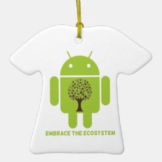 Abrace el ecosistema (el roble androide de Droid d Adornos De Navidad