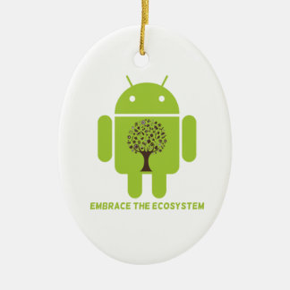Abrace el ecosistema (el roble androide de Droid d Ornamento De Reyes Magos