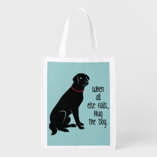 """Abrace la bolsa de asas de Resusable del perro"" Bolsa Reutilizable"
