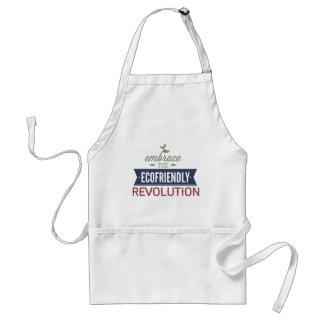 Abrace la revolución respetuosa del medio ambiente delantal