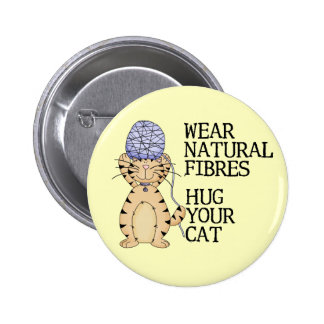 Abrace su gato pin redondo de 2 pulgadas