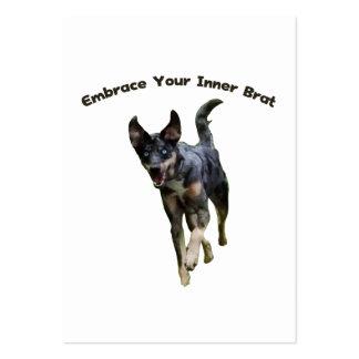 Abrace su perro interno de Catahoula del palo de g Plantillas De Tarjetas Personales