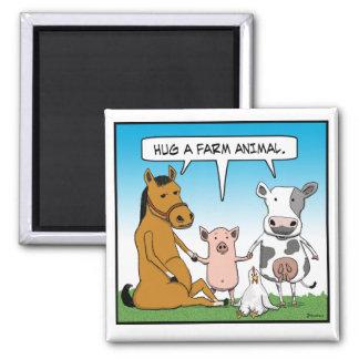 Abrace un imán del animal del campo