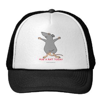 Abrace una rata hoy gorros bordados