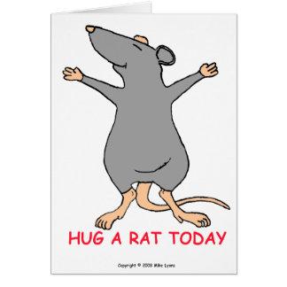Abrace una tarjeta de felicitación de la rata hoy