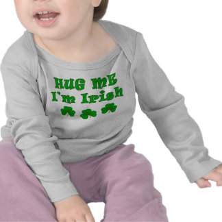 Abráceme camisetas irlandés
