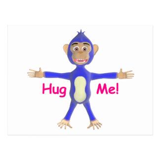Abráceme chimpancé postal