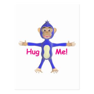Abráceme chimpancé postales