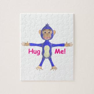 Abráceme chimpancé rompecabeza