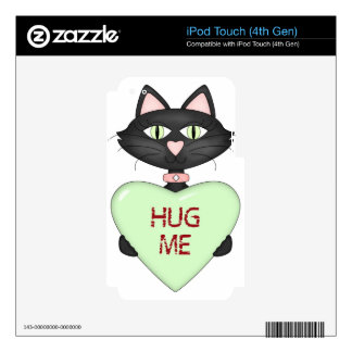 Abráceme corazón de la Gato-conversación iPod Touch 4G Skins