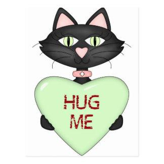 Abráceme corazón de la Gato-conversación Postales