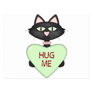 Abráceme corazón de la Gato-conversación Tarjetas Postales