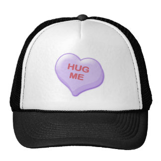 Abráceme corazón del caramelo gorra