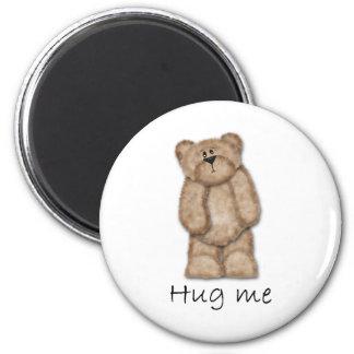 Abráceme oso de peluche imán de frigorifico
