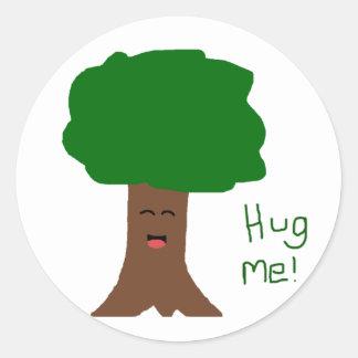 Abráceme pegatina del árbol