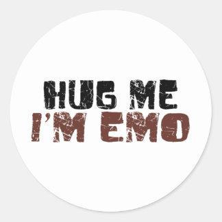 Abráceme que soy Emo Etiquetas Redondas