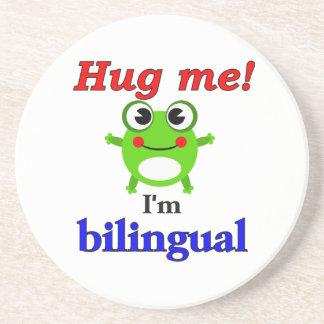 ¡Abráceme! Soy bilingüe Posavasos Diseño