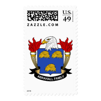 Abrahall Family Crest Postage Stamps
