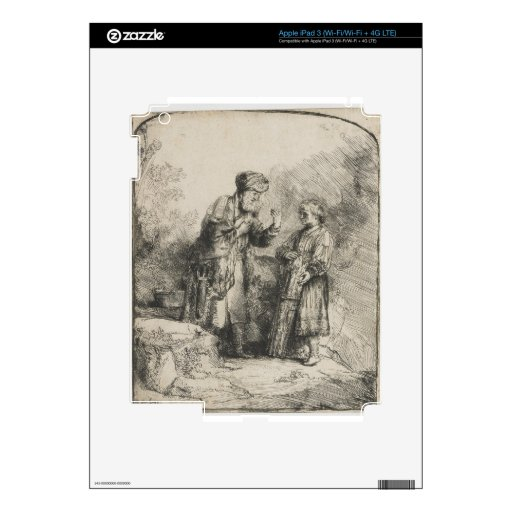 Abraham and Isaac Decal For iPad 3