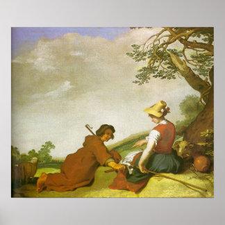 Abraham Bloemaert Shepherd And Shepherdess Poster