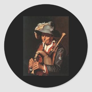 Abraham Bloemaert The Bagpiper Stickers