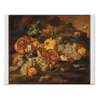 Abraham Brueghel - Pomegranates And Other Fruit Poster