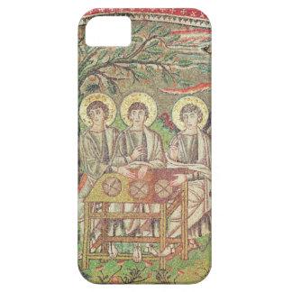 Abraham con los ángeles (mosaico) iPhone 5 carcasa