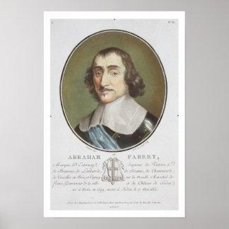 Abraham de Fabert (1599-1662) from 'Portraits des Poster
