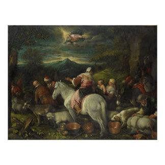 Abraham Departs Out of Haran by Francesco Bassano Poster
